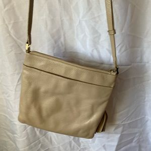 Halogen beige crossbody